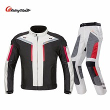 Riding Tribe Professional Motorcycle Suit Jacket Pants Winter Warm Safety Visibility Protective Racing Clothing All Season JK-40