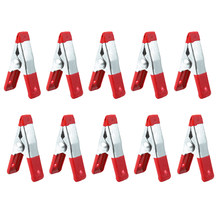 "New 10/20/50/100Pcs Metal Spring Clamps 2"" Clip w/ Soft Plastic Tips Grip Photos 77UD(China)"