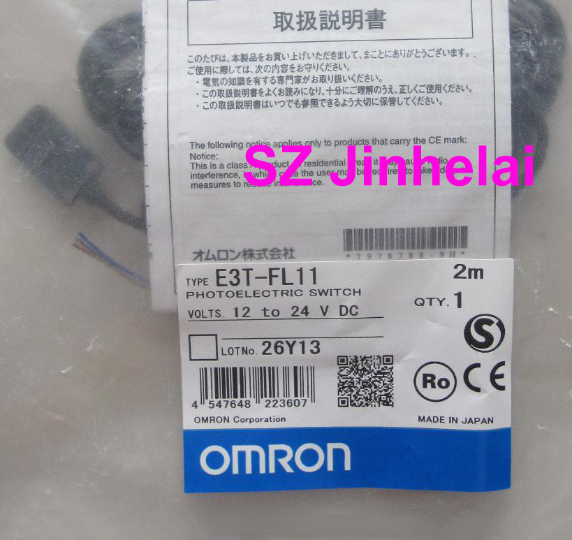 OMRON E3T-<font><b>FL11</b></font> Authentic original Photoelectric switch 2M 12-24VDC image