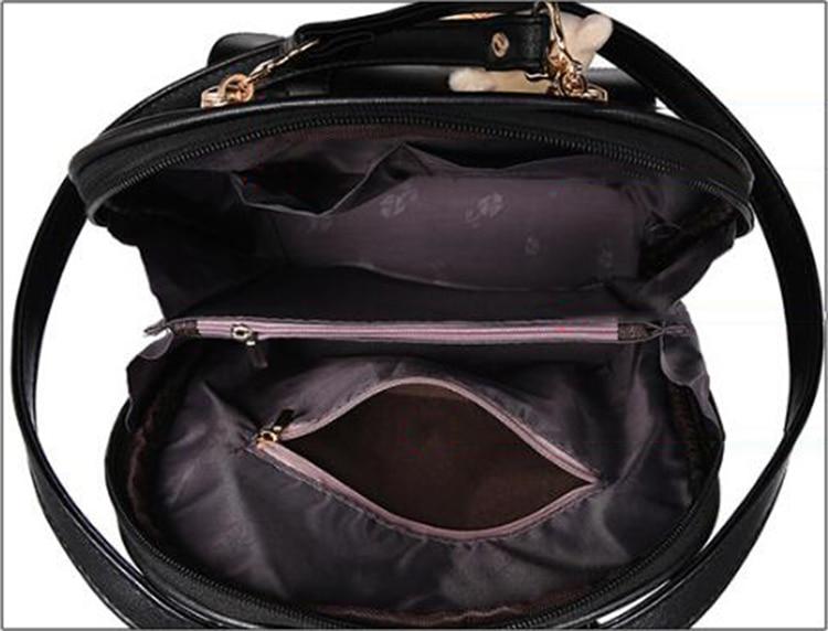 HTB140OKDhSYBuNjSsphq6zGvVXan Preppy Style Women Backpack Bear Toys PU Leather Schoolbags for Teenage Girls Female Rucksack Shoulder Bag Travel Knapsack
