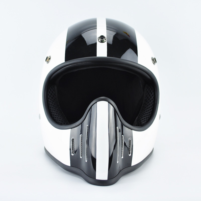 TT & CO giapponese Thompson Men casco moto casco moto integrale vintage Ghost Rider racing lucido caschi motocicletta