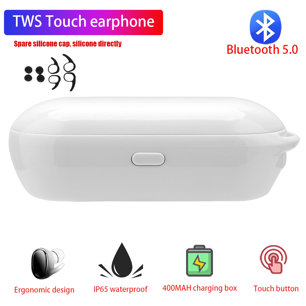 Bluetooth Earphones 5.0 TWS Mini Wireless Headset Power Display Earphone with charging box Sports Earbuds For Original phone Ear