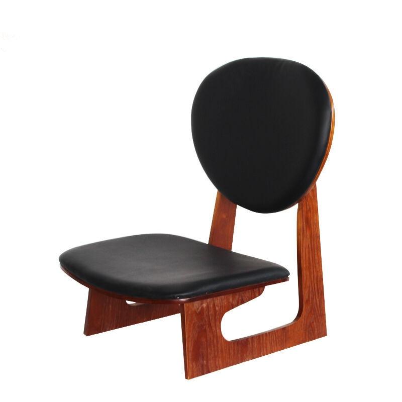 Style japonais bois chaise basse tabouret acajou finition - Chaise de salon en bois ...