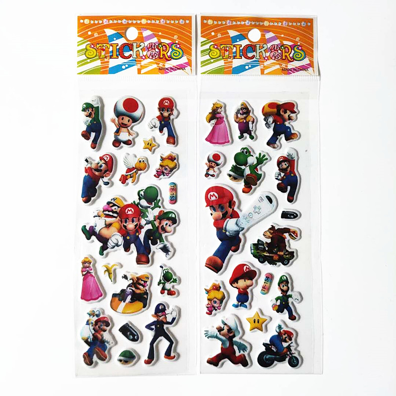 6 Sheets Cartoon Super Mario Stickers Kawaii Plumber Mario Bros Luigi Princess Peach Bubble Adesivos Laptop Luggage Guitar    6 Sheets Cartoon Super Mario Stickers Kawaii Plumber Mario Bros Luigi Princess Peach Bubble Adesivos Laptop Luggage Guitar