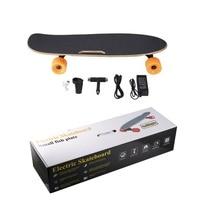 4 колеса электрический скейтборд одиночный драйвер мотор маленькая рыбка пластина беспроводной пульт дистанционного управления Longboard