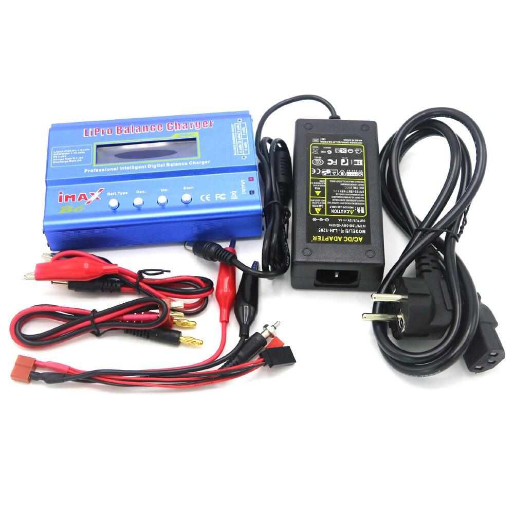 IMAX B6 Digital RC Lipo NiMh Battery Charger Balance + Adaptador AC POWER 12 v 5A Gota frete grátis
