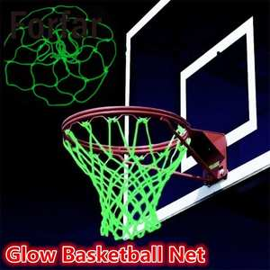 Glowing Light Basketball Net Green Luminous Backboard Rim Ball Mesh Nylon Standard