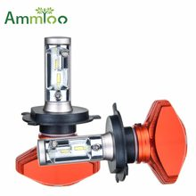 AmmToo H4 H7 Led H11 H1 Led Car Headlight 9005 HB3 9006 HB4 Fog Light H8 H9 H3 Bulb Car Light 24V 12V Auto 6500K CSP 80W 8000LM(China)