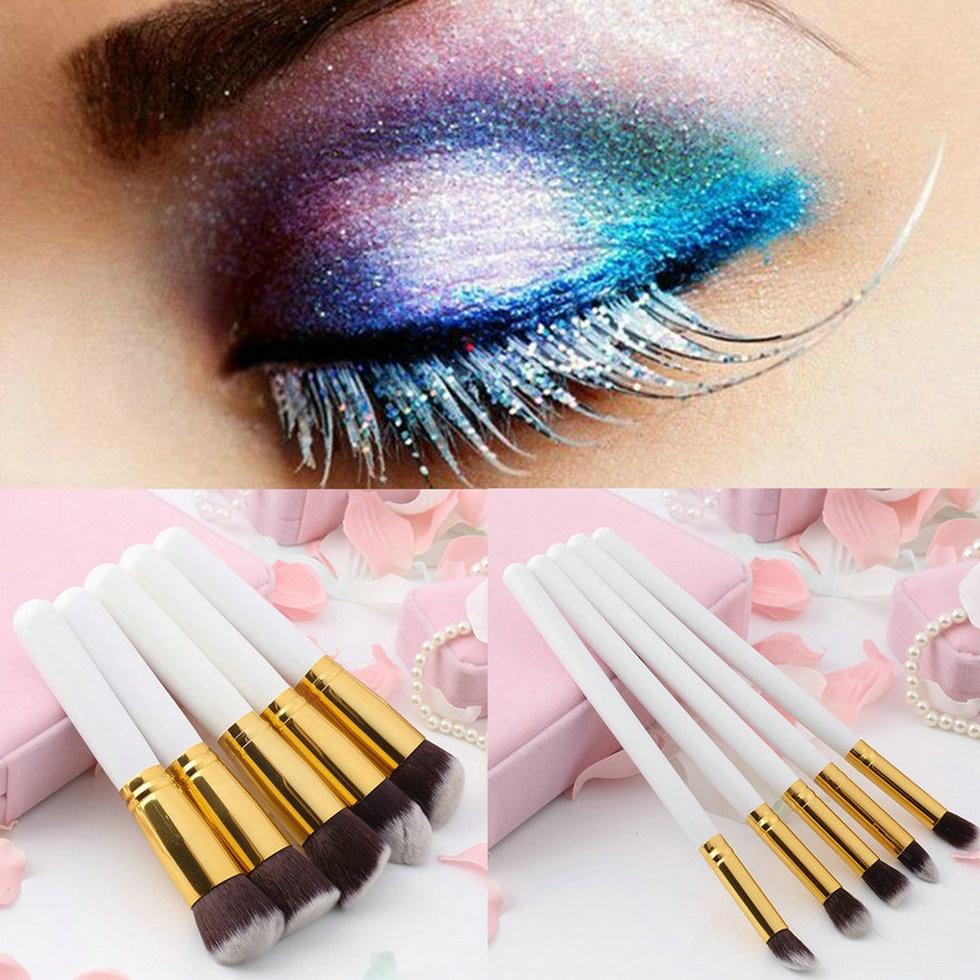 8ce570010 10 unids profesional cosmética Cepillos Sets Cepillos negro suave Pelo  sintético maquillaje Herramientas Kit de cosméticos de belleza