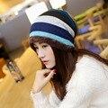 GONZETANK Nuevo Gorro de Punto Sombreros de Invierno para Las Mujeres Para Hombre De Piel Normal sombrero de Algodón Turbante Cap Gorros de Quimio Moda 56 A 60 CM