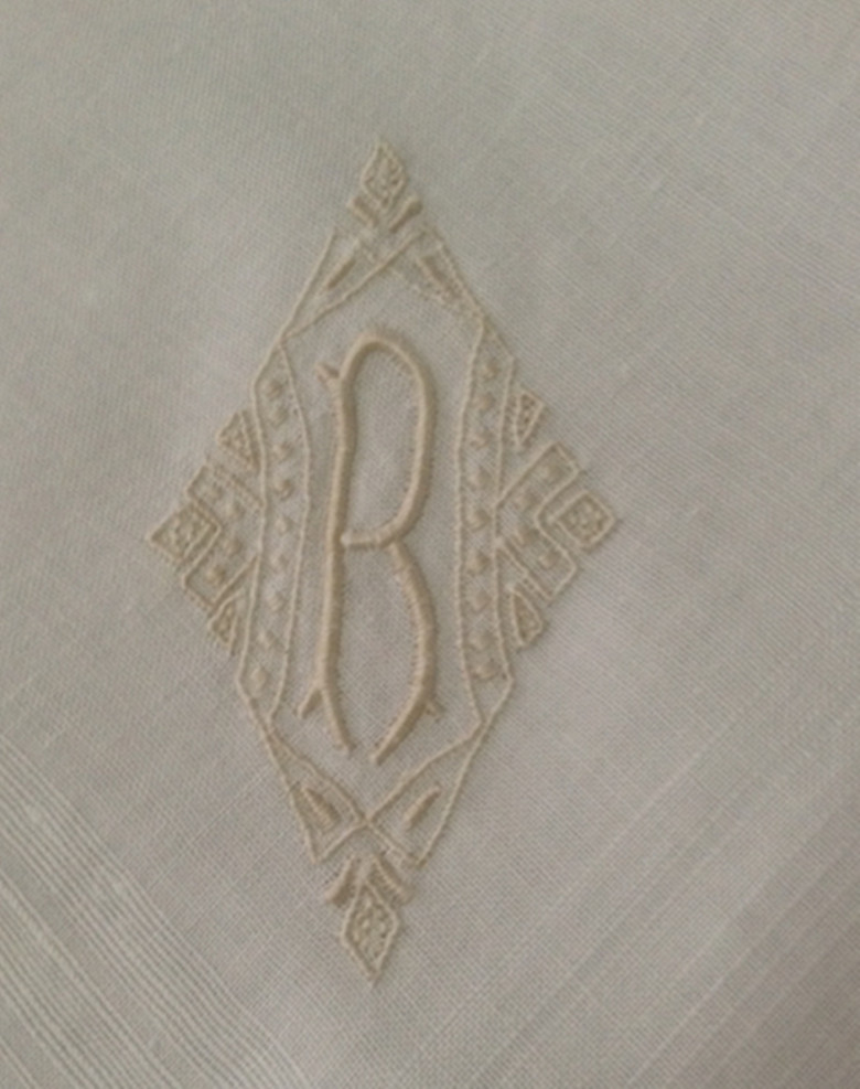 Fashion Men's Monogrammed Handkerchiefs 8 Pieces/Lot 17
