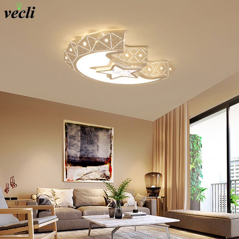 Led ceiling lamp home bedroom lighting lamps 85-265v 24W child baby room lights ceiling lamps bedroom decoration light creative star moon lampshade ceiling light 85 265v 24w led child baby room ceiling lamps foyer bedroom decoration lights