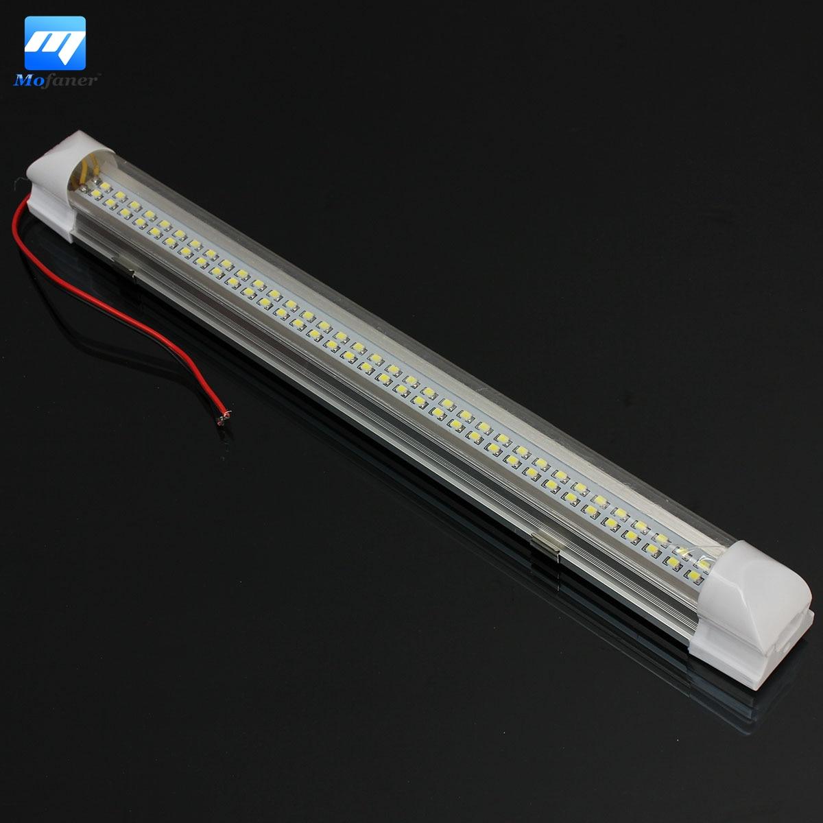New 12V Universal Car Auto Caravan Interior 72 LED White Light Strip Bar 340MM Lamp ON/OFF Switch