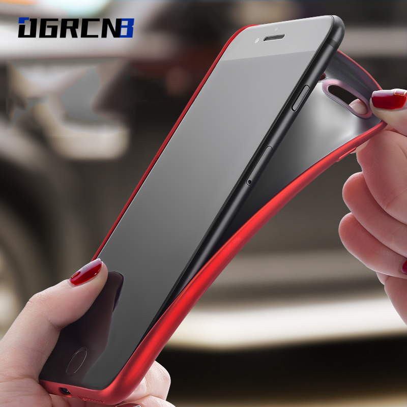 Luxury Back Matte Soft Silicon Case For font b iPhone b font 7 Cases 6S 7