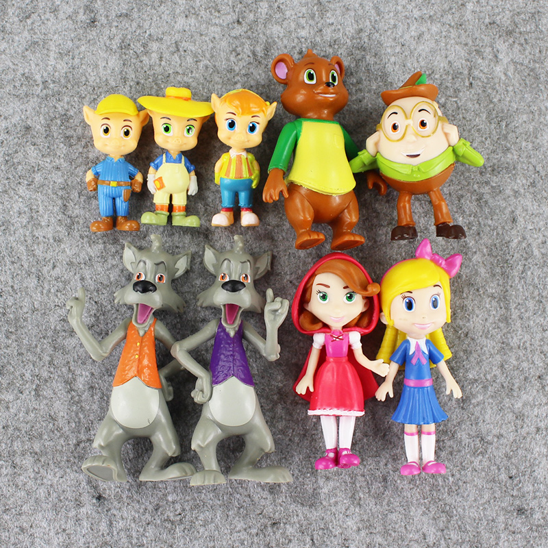 9pcs/lot Goldie & Bear Fairy Tale Forest Friends Figure Action Figures Anime Figurines Set Kids Toys Collectible For Gifts