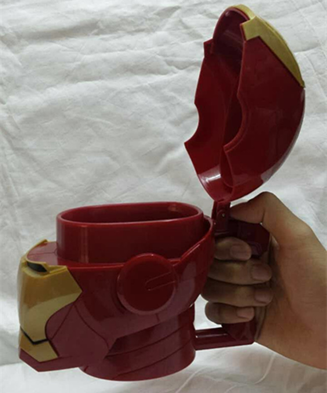 Free Shipping Iron Man Cup Action Figure MK43 and MK42 Iron Man Cup Doll PVC ACGN figure Toys Brinquedos Anime 13CM KB0409 hot the avengers ironman action figure 17 5cm mk42 mk43 iron man doll pvc acgn figure toy brinquedos anime kids toys