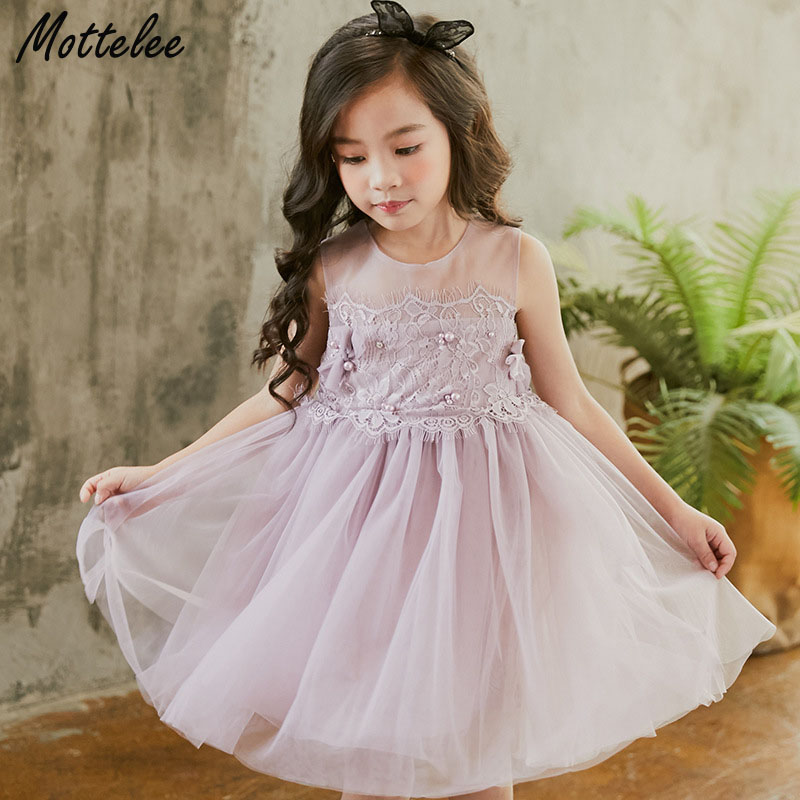 Dresses Dependable Girls Tulle Appliques Fluffy Dress For Birthday Party And Wedding Ball Gown Frocks Kids Baby Girl Princess Dress 4 6 8 10 Years 2019 Official