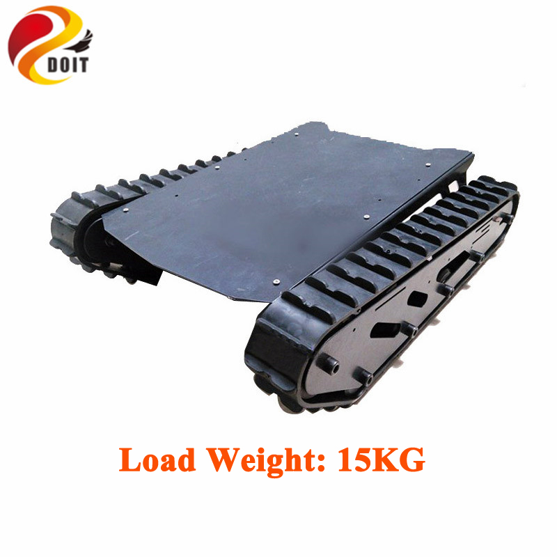15kg Load T007 Robot Chassis with Rubber Tracks+ Big Power Motor for Arduino Robot Project