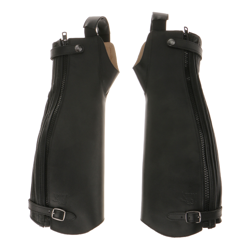 1 Pair Soft Leather Equestrian Horse Riding Gaiters Half Chaps Black XXS/XS/S/L/XL/XXL/XXXL for Outdoor Riding Accessories xs 3xl xxxl 21 j04