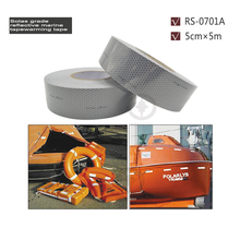 5cmx5m Self Adhesive Reflective Warning Tape with PC Backing Widely applied on Life Raft And Jacket