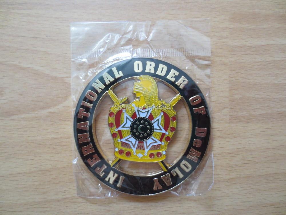 Masonic Auto Car Badge Black Emblem Mason Freemason E28