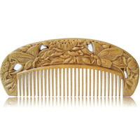 Wood Material 100 Wild Handmade Sandalwooden Comb For Hair Massage Hair Brush Hair Care Fish Shape