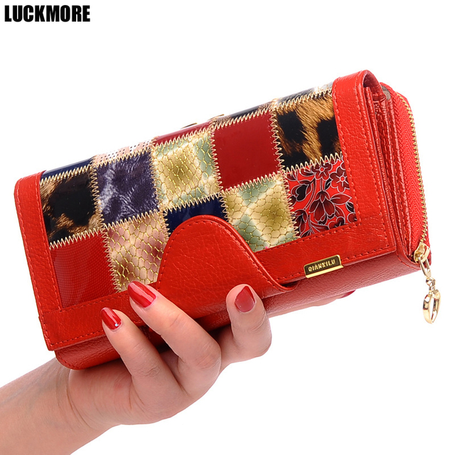 LUCKMORE Luxury Women Wallets Patent Leather High Quality Designer Brand Wallet Lady Fashion Clutch Casual Women Purses Party