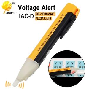 الكهربائية مؤشر 90-1000 V مقبس الحائط AC مخرج طاقة كاشف جهد الاستشعار فاحص القلم مصباح ليد