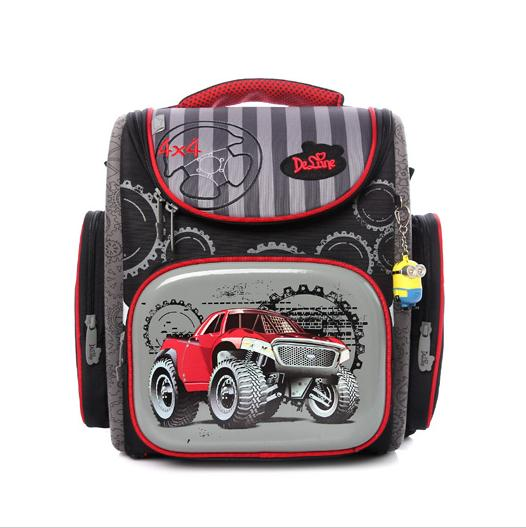 Delune School Bag 2016 Children Backpack High Quality 3D Car Print Army School Bags for Boys Child Bags Primary School Backpacks high end kocotree ergonomic elementary school bag books child children backpack portfolio for girls for class grade1 3 free ship