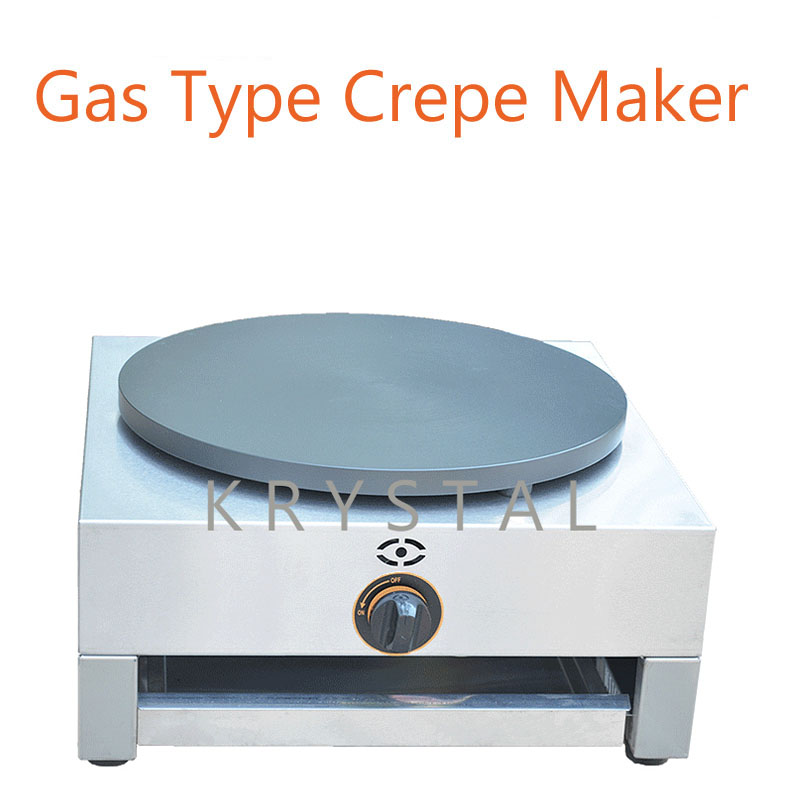 Gas Type Crepe Maker French Crepes Pancake Machine Bread Maker with English Manual FYA-1.R free shipping round type gas crepe machine french crepe maker