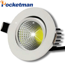 new Dimmable Recessed led downlight cob 5W 7W 9W 12W dimming LED Spot light led ceiling lamp AC 110V 220V free shipping