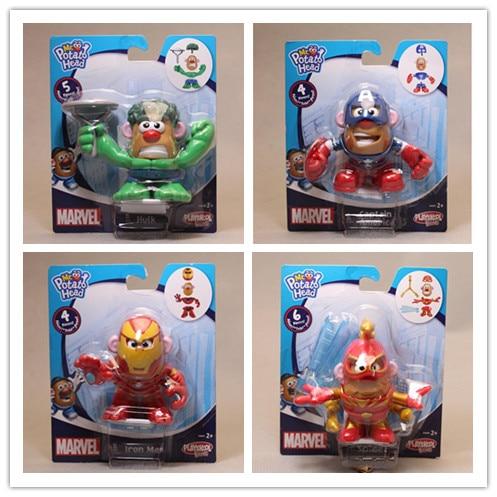4pcs-lot-mr-potato-head-figures-toy-mr-potato-cosplay-font-b-avengers-b-font-captain-america-spider-man-iron-man-pvc-toys-with-retail-box