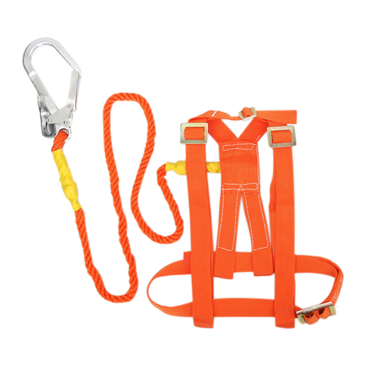 Outdoor Mountaineering Climbing Roofing Roofers Fall Arrest Work Harness Lanyard Aerial Work Safety Belt Protection Equipment image