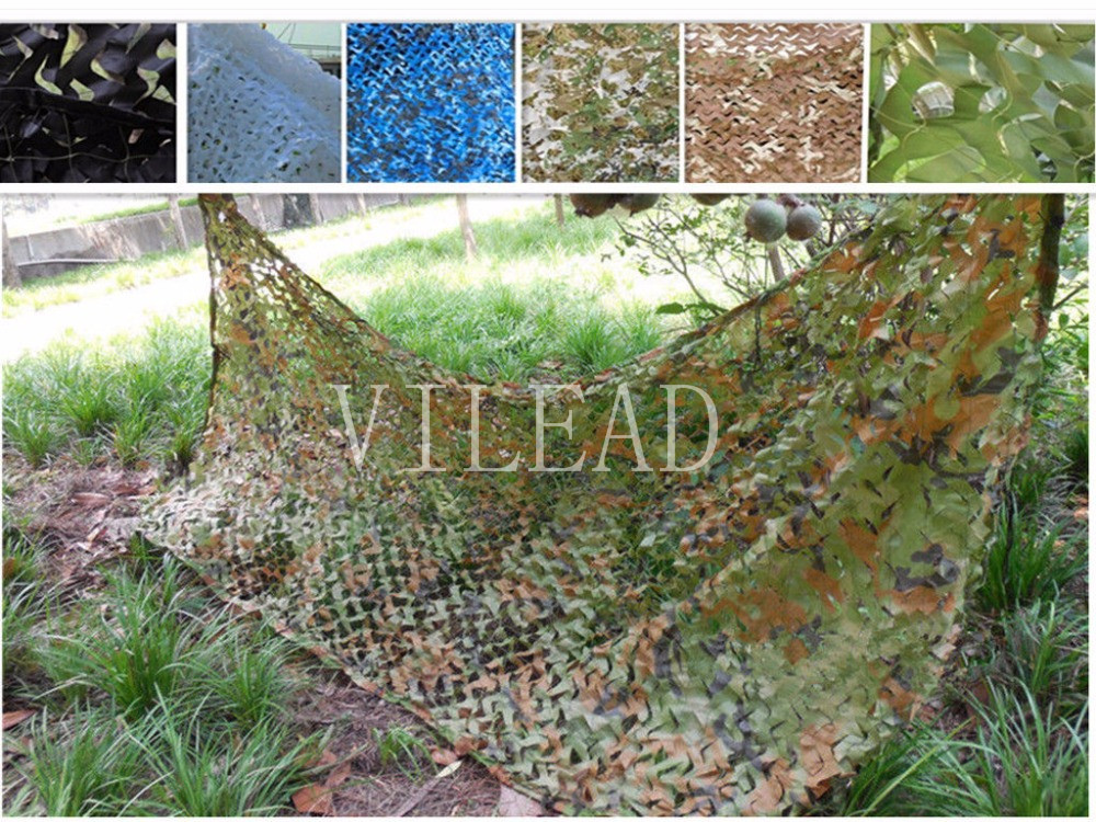 VILEAD 9 Colors 2.5M*7M Camouflage Net Sun Shelter Camo Netting Stealth Net Anti Fire Shade Net Roll For Snipers Beach Net Car vilead 7m desert camouflage net camo net for beach shade canopy tarp camping canopy tent party decoration bar decoration