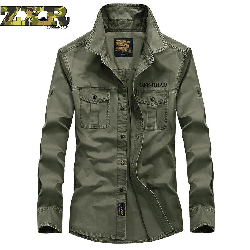 Hiking Man's Shirt Tactical Long Sleeve Blouse Breathable Quick Dry Windproof Outdoor Trekking Hiking Fishing Hunting Military
