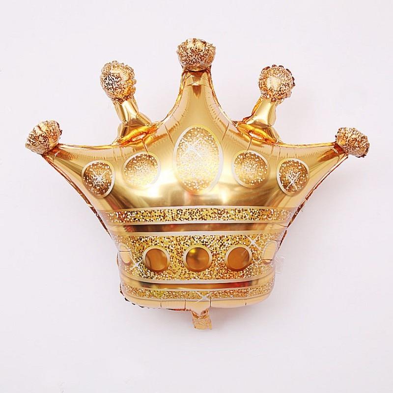 2019 1pc big Diamond Ring gold king Crown Balloon for Wedding Party Aluminum Foil Home Garden Festival Decoration