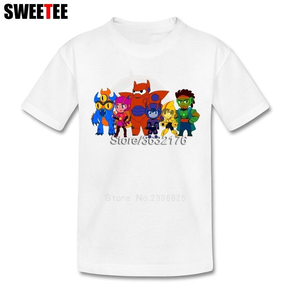 Boy Girl T Shirt Baby Tops 2018 Baymax Big Hero Infant 100% Cotton Tshirt O Neck Kid childrens T-shirt For Toddler