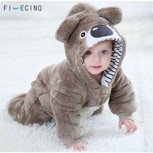 귀여운 코알라 Kigurumis 아기 어린이 Onesie pyjama Kawaii 동물의 코스프레 의상 유아 겨울 따뜻한 소프트 정장 할로윈 파티 팬시