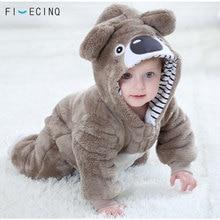 Pijama adorable de Koala Kigurumis para bebé, pijama Kawaii de animales, disfraz de Cosplay infantil de invierno, traje suave cálido para fiesta de Halloween