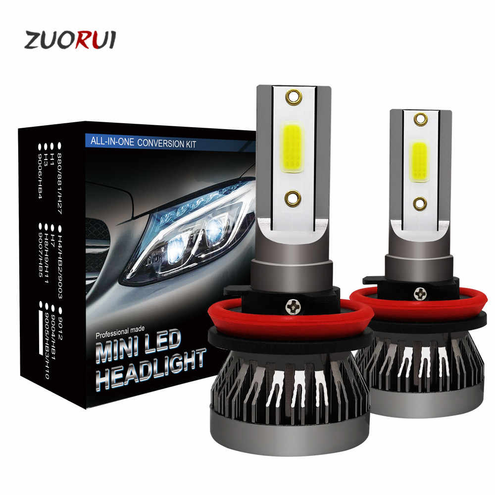 2PCS Led Car Headlight Mini Lamp H7 LED Bulbs H1 H8 H4 Headlamps Kit 9012 9005 HB3 9006 HB4 6000k Fog Light 12V LED Lamp 36W
