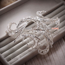 Clips For Hair Sale Real Sterling Jewelry Acessorio Para Cabelo Vintage Bride Handmade Inlaid Rhinestone Comb