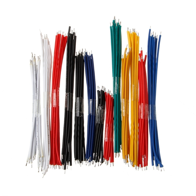 130Pcs 24AWG Breadboard Jumper Cable Wires Kit Tinning Double Tinned ...