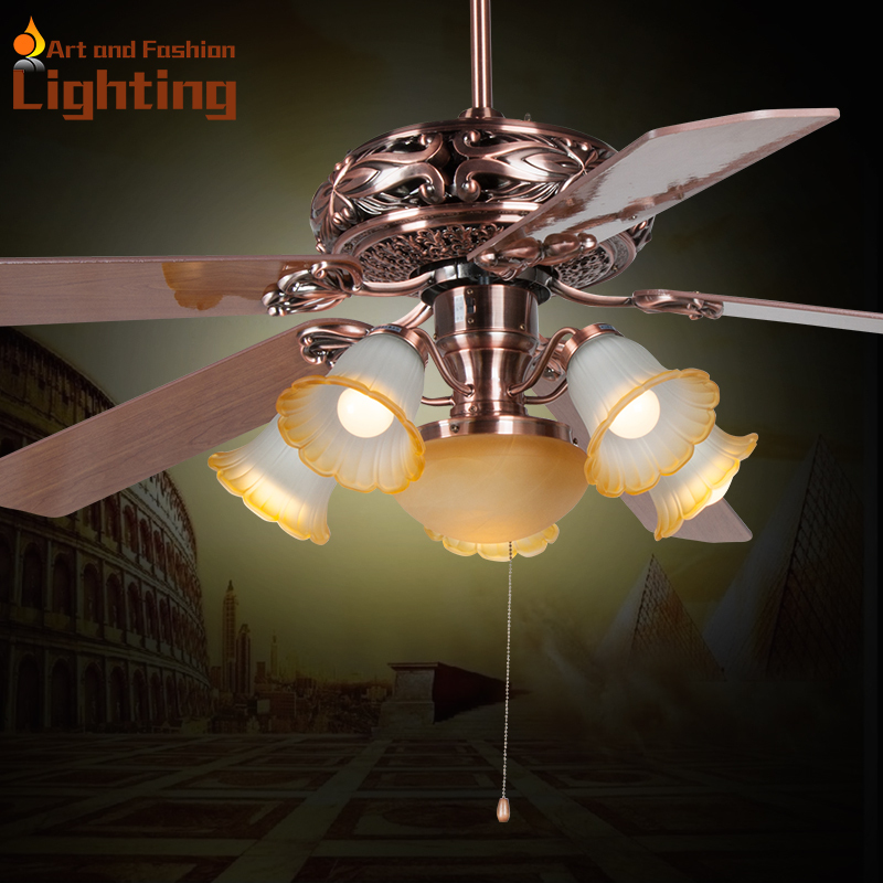 Large 60 Inches Ceiling Fan Light Popular European Style