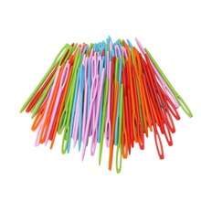 100 шт детские цветные пластиковые иглы 7 см гобелены Бинка швейная шерстяная пряжа DIY для шитья, вышивки крестом, Бинка, так далее