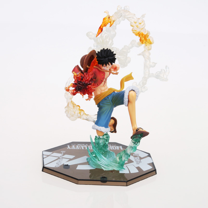 18CM Japanese <font><b>One</b></font> <font><b>Piece</b></font> <font><b>Luffy</b></font> Anime Action Figure PVC New Collection figures toys Collection for Christmas gift free shipping image