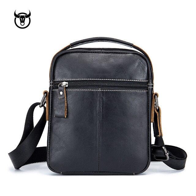 Genuine Vintage Leather Male Casual Handbag 6