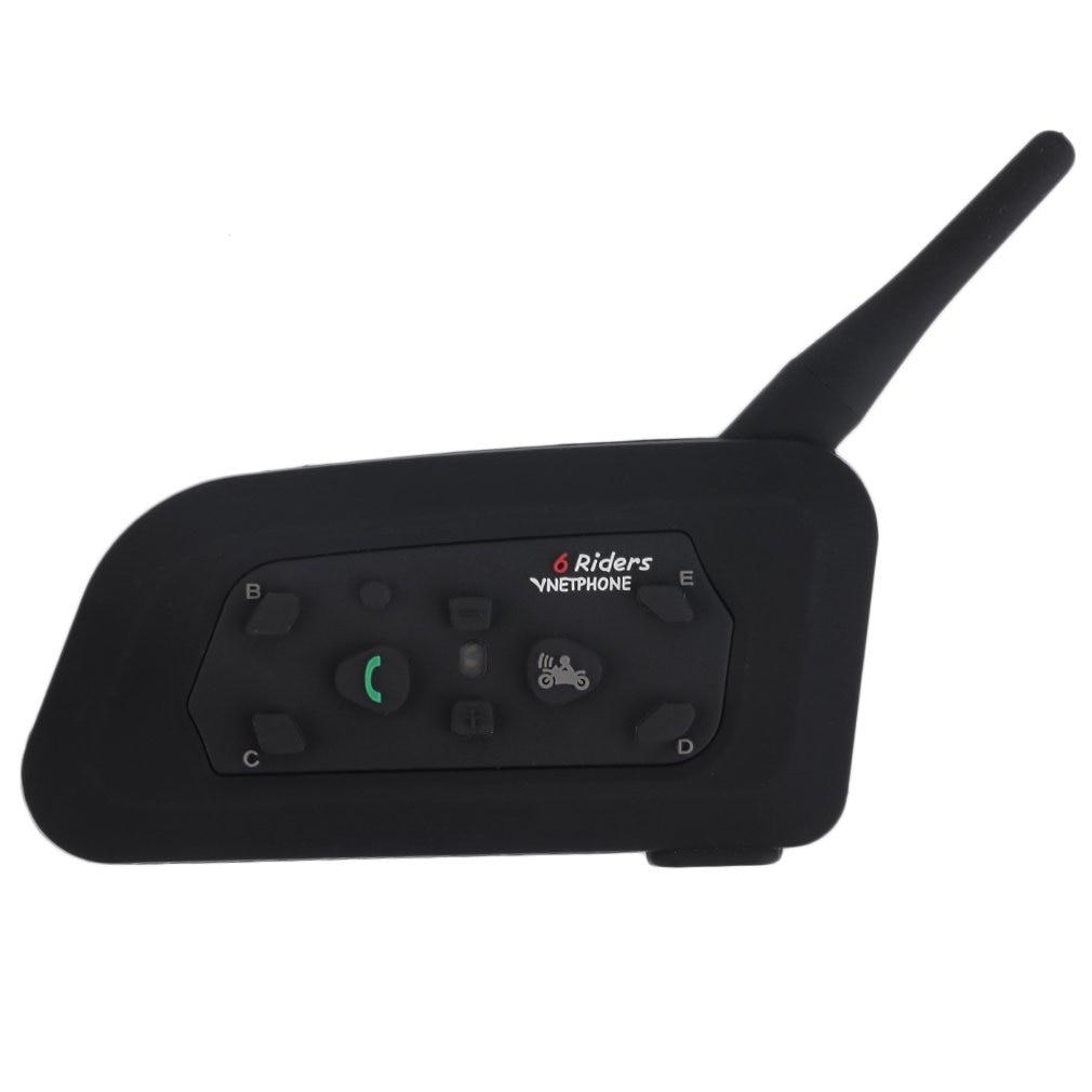 US Plug V6 Helmet Intercom 6 Riders 1200M Motorcycle Bluetooth Intercom Headset Walkie Talkie Helmet BT Interphone