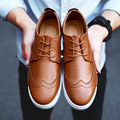 Breathable Men Oxford Shoes Casual PU Leather Shoes Men Flats White Gray Brown Plus Size 39-44 SMYXP-F0006