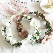 Girls hair accessories pure color adorn Fashion Rope headdress Flower Rubber Bands Small Adorn Article Creative elastic hairband