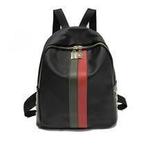 цены ONEFULL NEW FASHION backpack women zipper striped backpack female Nylon casual school bag Backpack Fashion backpacks brand black